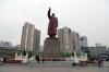 China, Dandong - Statue of Mao Zedong