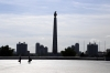 North Korea, Pyongyang - Tower of Juche Idea from Kim Il Sung Square