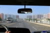 North Korea, Pyongyang - driving over Chungsong Bridge heading out of the city towards the DMZ