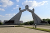 North Korea, Pyongyang - starting out on the Pyongyang - Kaesong Highway at the Arch of Reunification