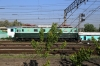 North Korea - KSR Red Flag 900 Class electric locomotive 900-5 stabled outside Pyongyang station