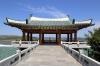 North Korea, Tumangang - 3-Countries Border Viewpoint. Russia, China and North Korea all visible.