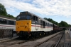31414 at Wirksworth after arrival with the 1710 Duffield - Wirksworth