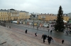 Helsinki, Finland - view from Helsinki Cathedral over the Christmas Market in Senate Square