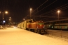 VR Dv12 2747 shunts the car carriers for IC266 1803 Rovaniemi - Helsinki into the platform at Rovaniemi for loading