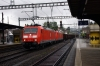 DB 185's 185105/110 run through Liestal with a freight