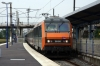 SNCF 26158 arrives into Selestat with EC91 0733 Brussels Midi - Basel