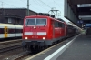 DB 111011 at Dusseldorf Hbf with 10408 0822 Dusseldorf Hbf - Aachen Hbf
