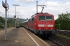 DB 111047 departs Bad Cannstatt with 19925 1643 Stuttgart HB - Schwabisch Hall