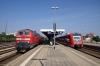 DB 218460 waits at Buchloe with 57346 1303 Augsburg - Fussen