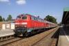 DB 218460 departs Kaufbeuren with 57346 1303 Augsburg - Fussen