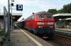 DB 218435 at Memmingen with 57651 1615 Ulm - Oberstdorf