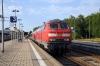 DB 218421/444 arrive into Memmingen with EC192 1633 Munich HB - Zurich HB