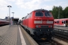 DB 218460 at Memmingen with 57417 1802 Memmingen - Buchloe