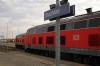 Buchloe L-R DB 218490 departs with 57514 1752 Munich HB - Fussen (leaving 218488 & set behind in the platform) & 218460 having arrived with 57417 1802 Memmingen - Buchloe