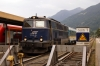 On hire to Alex, SVG 2143018 on the blocks at Oberstdorf having arrived with Alex train 84170 1714 Immenstadt - Oberstdorf