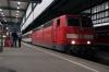 DB 181210 on the blocks at Stuttgart HB having arrived with IC180 1905 Zurich HB - Stuttgart HB (having replaced SBB Re421 421394 at Singen)