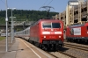 DB 120144 arrives into Plochingen with IC2261 1206 Karlsruhe - Munich HB