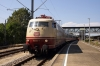 DB 103113 waits departure from Goppingen with IC2519 0727 Munster - Ulm