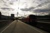 Munich HB L-R DB 218457 waits departure with 57406 0820 Munich HB - Memmingen & DB 218488 stands with an ECS