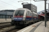 OBB Railjet 1116250 waits departure from Bruck an der Mur with RJ554 0725 Graz Hbf - Wien Hbf