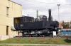 MAV steam loco 377503 outside Zalaegerszeg station