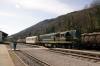 SZ 644005 at Most Na Soci after arrival with 853 0910 Bohinjska Bistrica - Most Na Soci car train