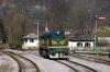 SZ 644005 runs round its train at Most Na Soci to depart with 854 1035 Most Na Soci - Bohinjska Bistrica car train