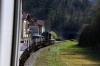 SZ 644005 between Most Na Soci & Podbrdo with 854 1035 Most Na Soci - Bohinjska Bistrica car train