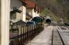 SZ 644005 at Podbrdo with 854 1035 Most Na Soci - Bohinjska Bistrica car train