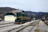 SZ 644005 runs round its car train at Bohinjska Bistrica to form 855 1136 Bohinjska Bistrica - Podbrdo