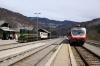 SZ 644005 at Bohinjska Bistrica waiting to depart with 855 1136 Bohinjska Bistrica - Podbrdo