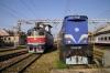 HZ 2044027 stands spare at Zagreb Glavni Kolodvor after arrival with 991 0525 Varazdin - Zagreb GK while HZ 1141380 runs through the station