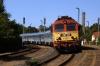 MAV 418313 departs Revfulop with 9707 0940 Tapolca - Budapest Deli