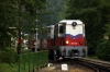 Budapest Childrens Railway - Mk45-2004 brings the stock into Huvosvolgy to form 31137 0910 Huvosvolgy - Szechenyihegy