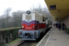 Mk45-2002 at Huvosvolgy after arrival with 232 1103 Szechenyihegy - Huvosvolgy at the Budapest Children's Railway