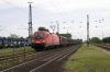 OBB 1116074 passes through Acs with a freight heading in the Gyor direction