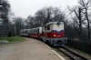 Mk45-2002 brings the stock into Huvosvolgy to work 237 1010 Huvosvolgy - Szechenyihegy at the Budapest Children's Railway