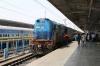 TNP WDM3A 18536 waits to depart Trichy Jn with 12084 0710 Coimbatore Jn - Mayilduthurai Jn Shatabdi