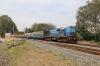 TNP WDM3A 18536 departs Thanjavur Jn with 12084 0710 Coimbatore Jn - Mayilduthurai Jn Shatabdi