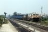 BNDM WDG4's 12945/70127 run through Sambalpur Road with a loaded coal train