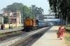 BNDM WDM3A 16556 arrives into Sambalpur Road with 58131 0815 Rourkela Jn - Puri