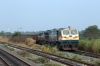 R WDG4's 12965/12977 waits at Sarla Jn with a freight