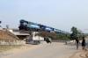 VSKP WDG3A's 14513/14581 arrive into Samablpur Jn with 12880 0710 Bhubaneswar - Lokmanya Tilak Terminus
