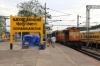 ERS WDM3A 16881 at Shornaur Jn with 16305 0645 Ernakulam Jn - Kannur Intercity