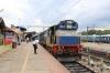 ED WDG3A 13513 waits to depart Shoranur Jn with 56362 0520 Kottayam - Nilambur Road