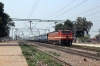 CNB WAP4 22299 passes through Magarwara with 11109 0610 Jhansi Jn - Lucknow Jn