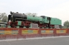 YG steam loco 4310 plinthed outside Trichy Jn station