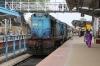 TNP WDM2 16863 waits to depart Thanjavur Jn with 12084 0710 Coimbatore Jn - Mayilduthurai Jn Shatabdi