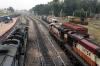Rayagada Jn (L-R) - R WDG4's 12357/70034 with a freight, R WDG3A's 13126/13587 with a freight, VSKP WDG3A's 14514/14754/14537 which would banks a train northwards, VSKP WDG4's 70065/12991 waiting their next turn and BNDM WDM3D 11146 which would work 18006 0415 Jagdalpur - Howrah forward